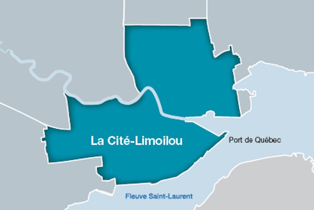 Carte arrondissement de La Cité–Limoilou