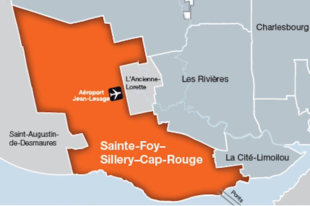 Carte arrondissement de Sainte-Foy–Sillery–Cap-Rouge