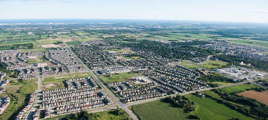 Aerial view of Brooklin