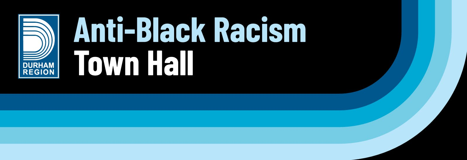 Regional Headquarters building with text overlayed reading: Anti-Black Racism Town Hall