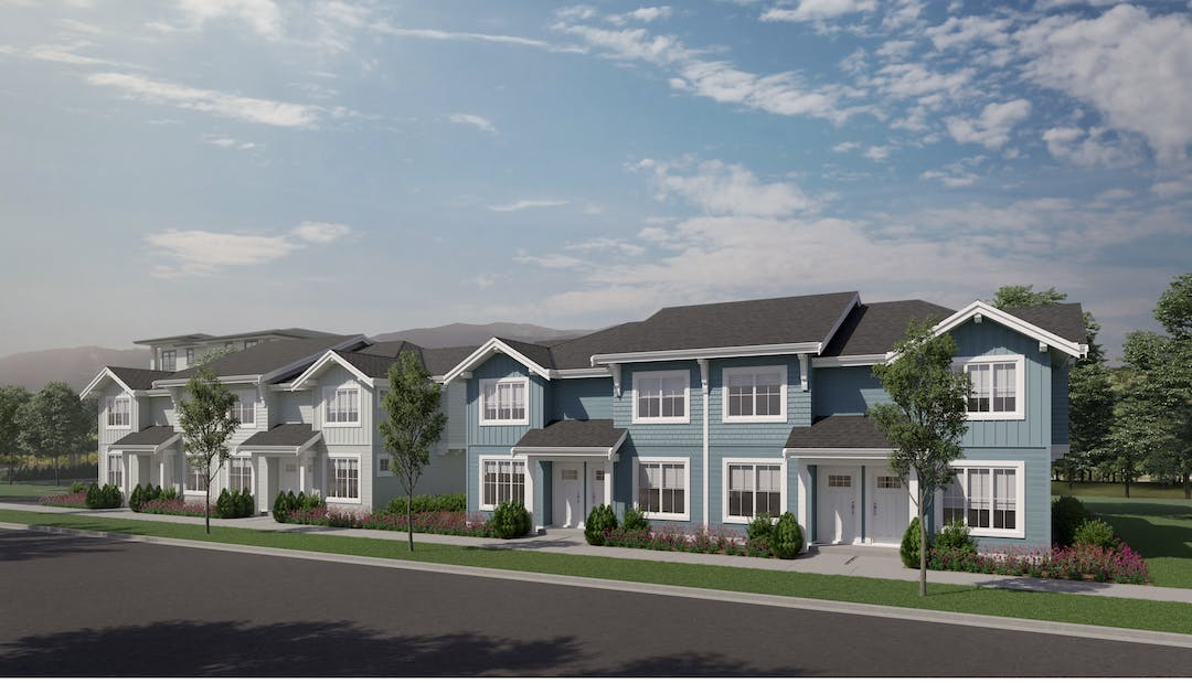 Illustrative rendering of town-homes