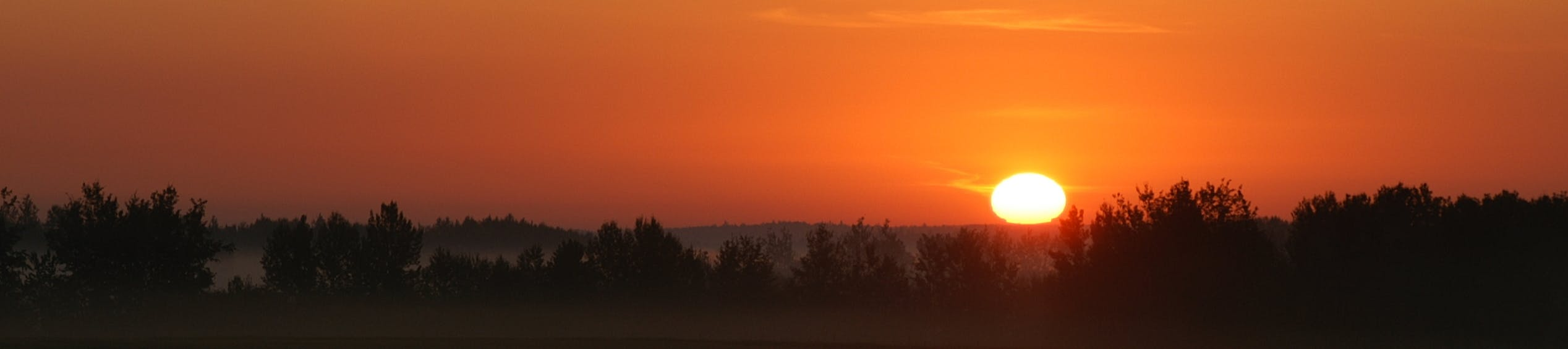 Sunset over Alberta's West Country