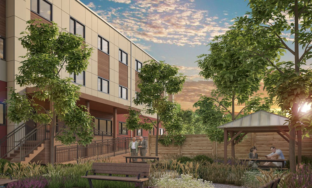 Illustrative rendering of supportive housing in Campbell River