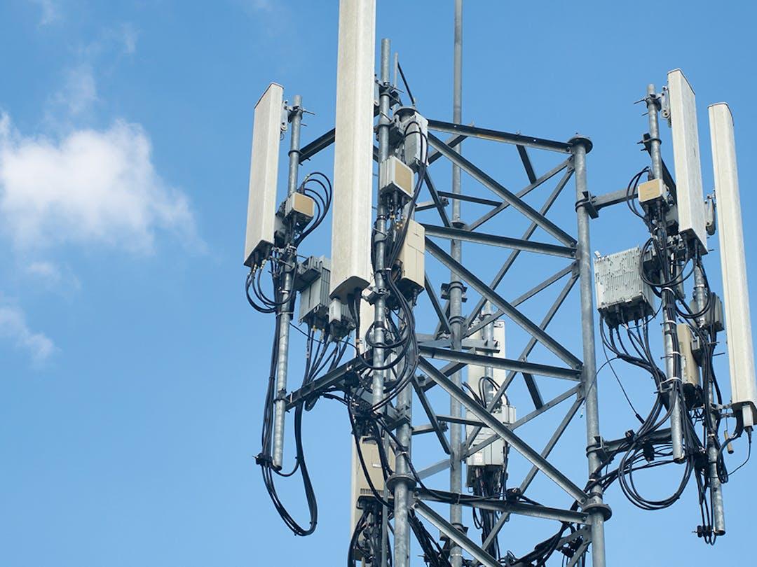 top of an internet tower