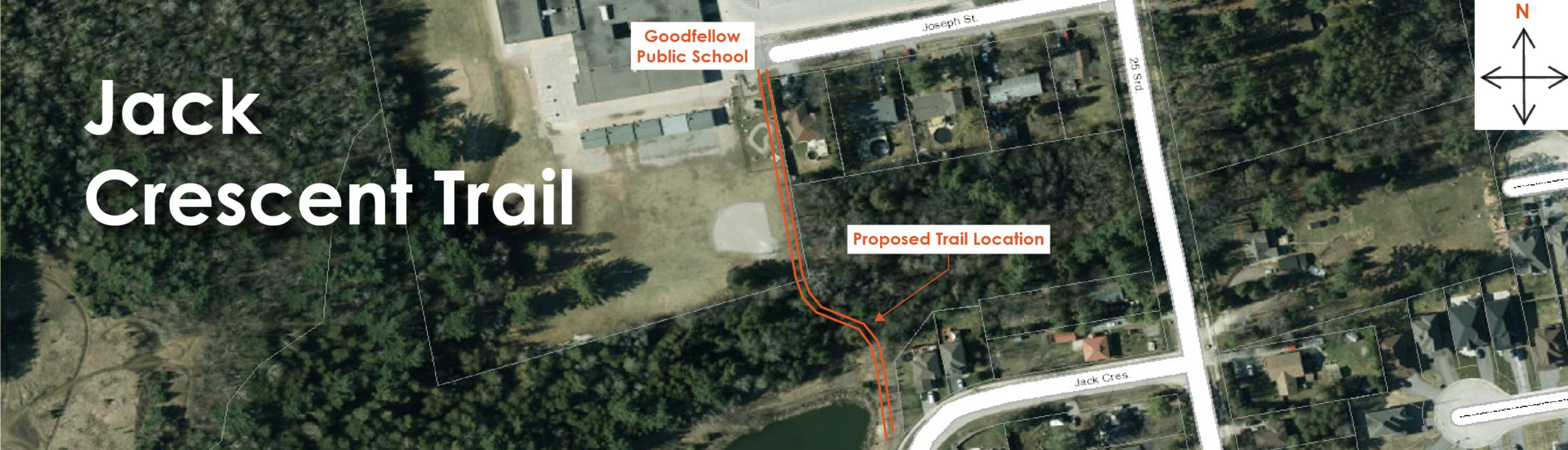 Proposed Jack Crescent Trail to Goodfellow Public School