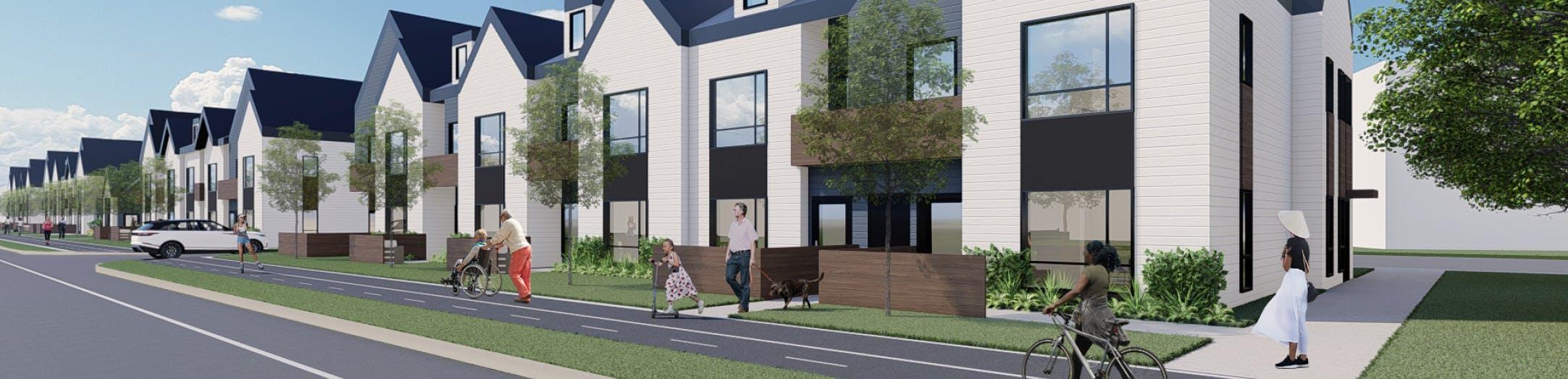 Digital illustration of proposed Elgin Park redevelopment design