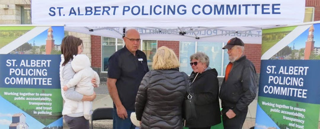 St. Albert Policing Committee at Farmer's Market.