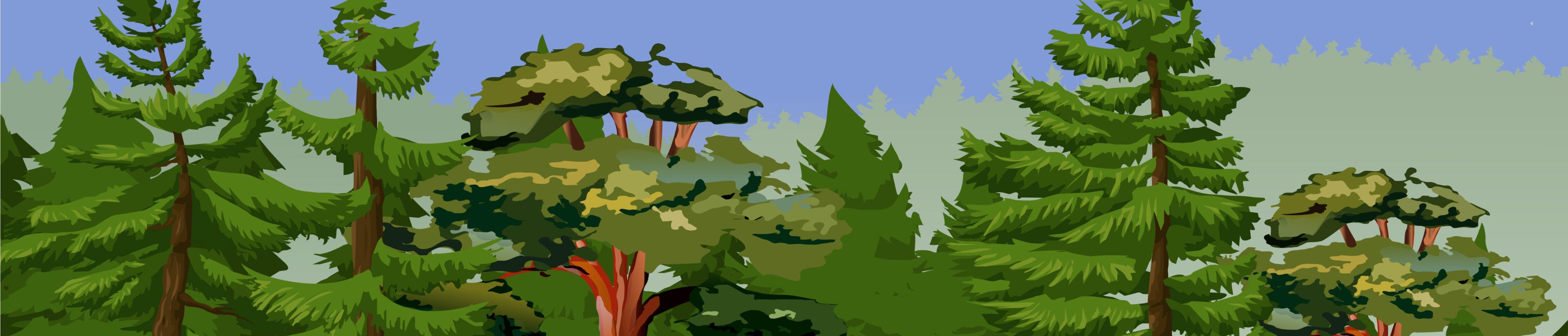 Digital illustration of forest