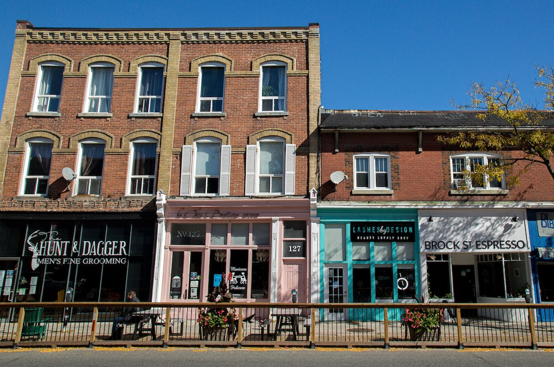 Downtown Whitby storefronts