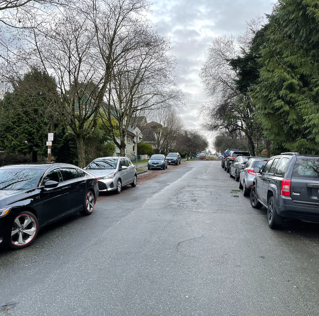 About 30% of Vancouver's street space is dedicated to parking.