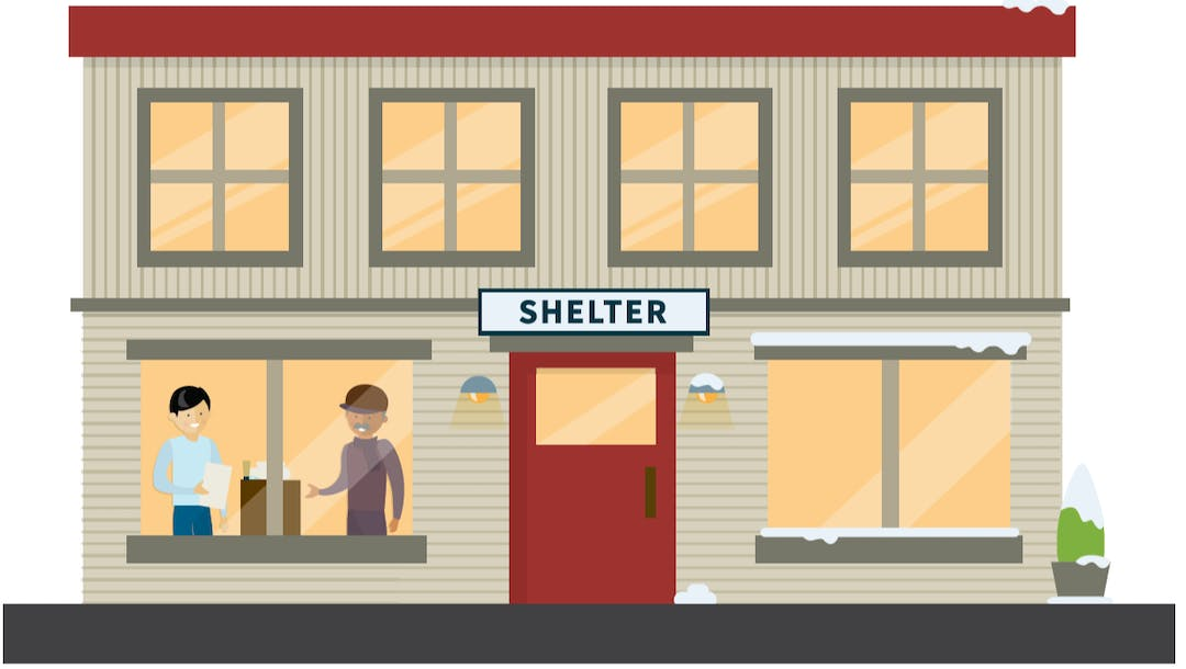 Illustrated image of a Shelter