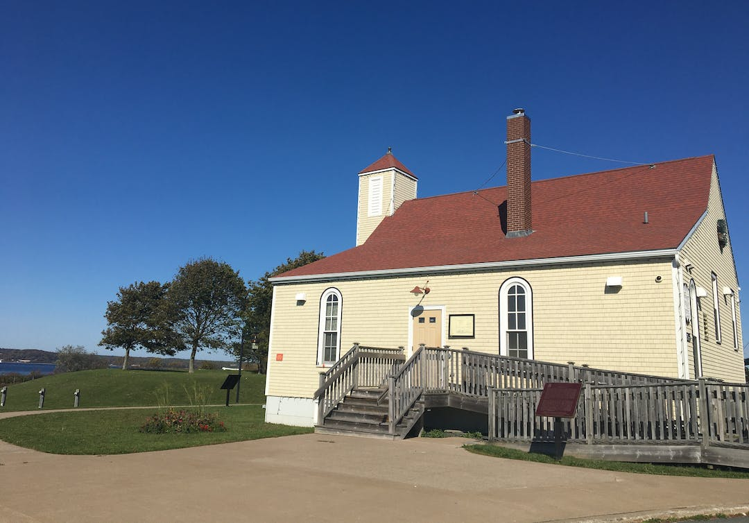 A photo of the Africville Museum on a sunny, blue-sky day