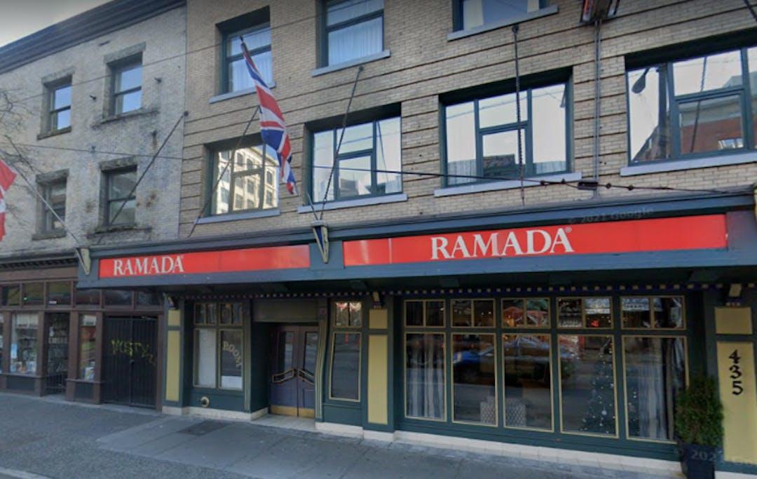 The Ramada Inn on Pender.