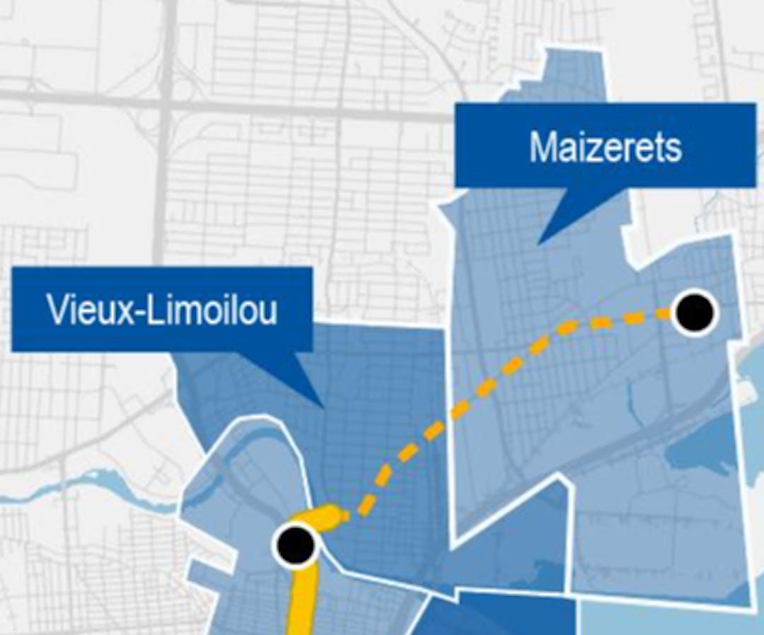 Carte du secteur Vieux-Limoilou et Maizerets