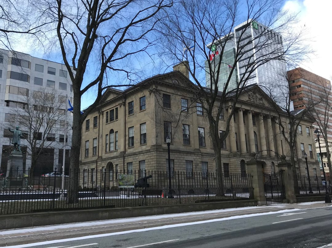 Occupying a prominent site in the proposed Heritage Conservation District, and in the heart of downtown Halifax, NS, Province House is an imposing, three-storey Neo-Classical building that exhibits the most refined elements of the Palladian style. Built of Nova Scotia sandstone, the home of the provincial legislature was completed in 1819.