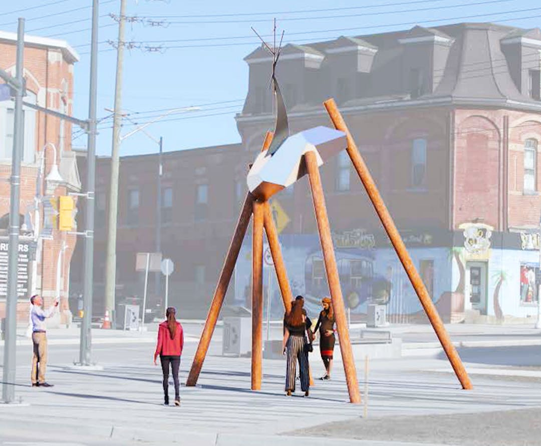 An artist's rendering of how the Town of Midland Public Art Installation will look when completed.