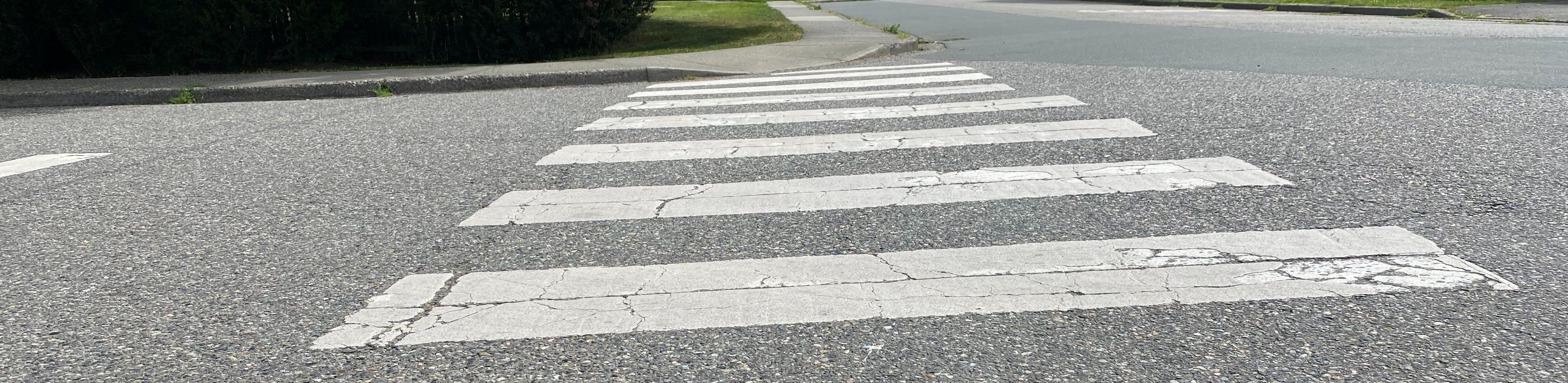 A zebra crosswalk