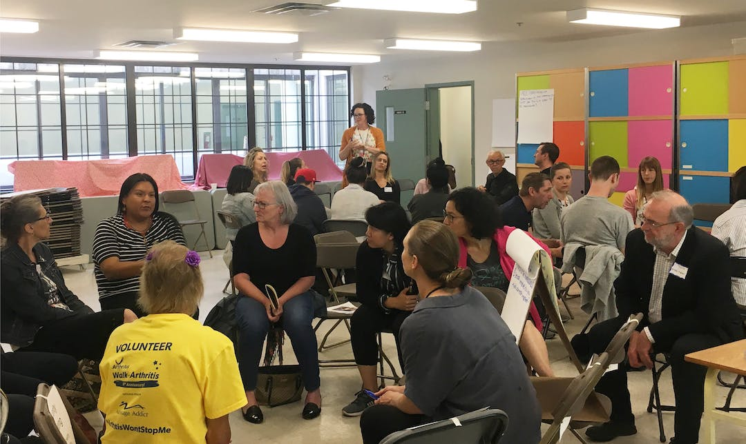 Engagement during the DTES Plan Community Fair in 2019