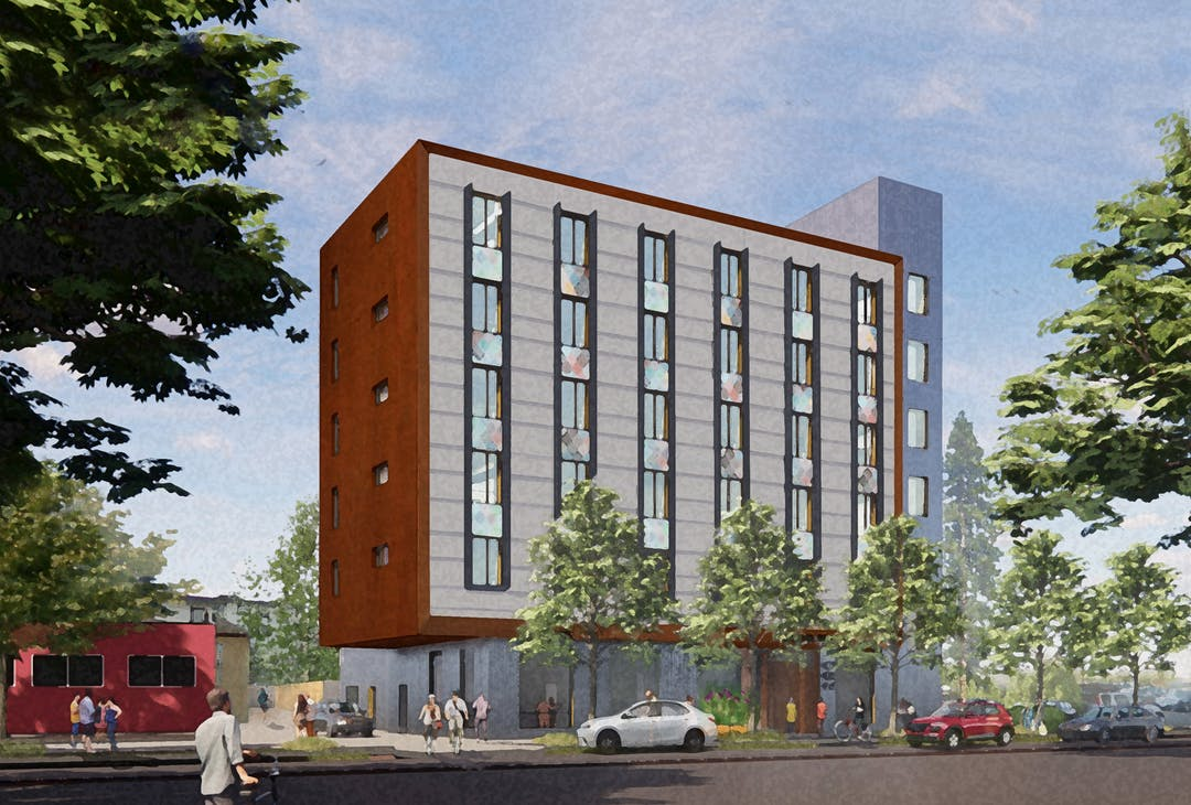 Building rendering for 1075 Meares Street