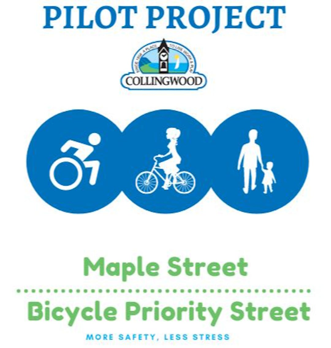"""Image of Pilot Project logo and slogan """"More safety, less stress"""""""