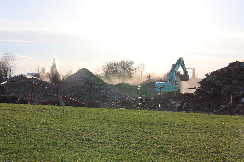 Demolition of Bogdon and Gross - April 9, 2021