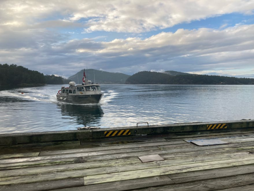 Water taxi landing at Miner's Bay, Mayne Island