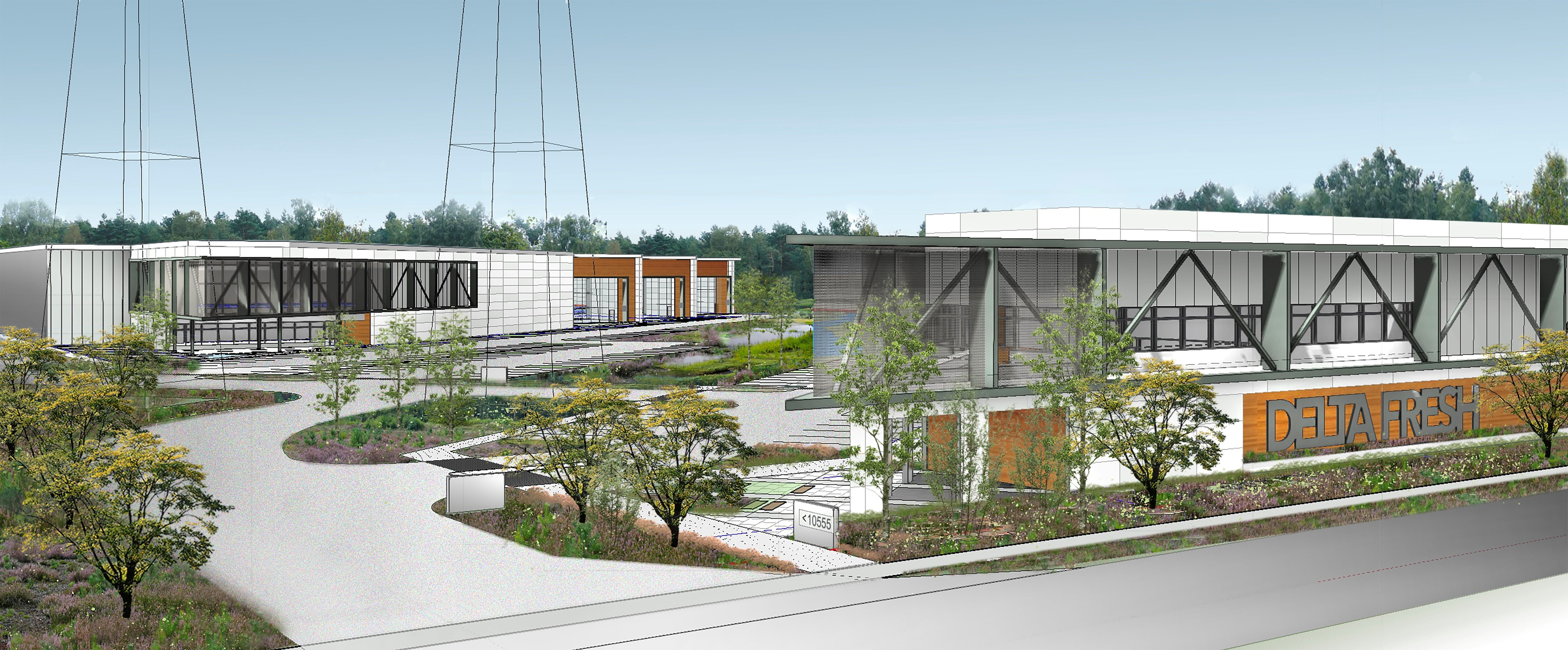 Rendering from 64 Avenue (South)