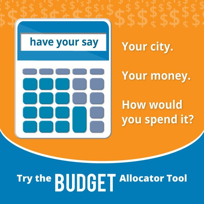 Use the budget tool