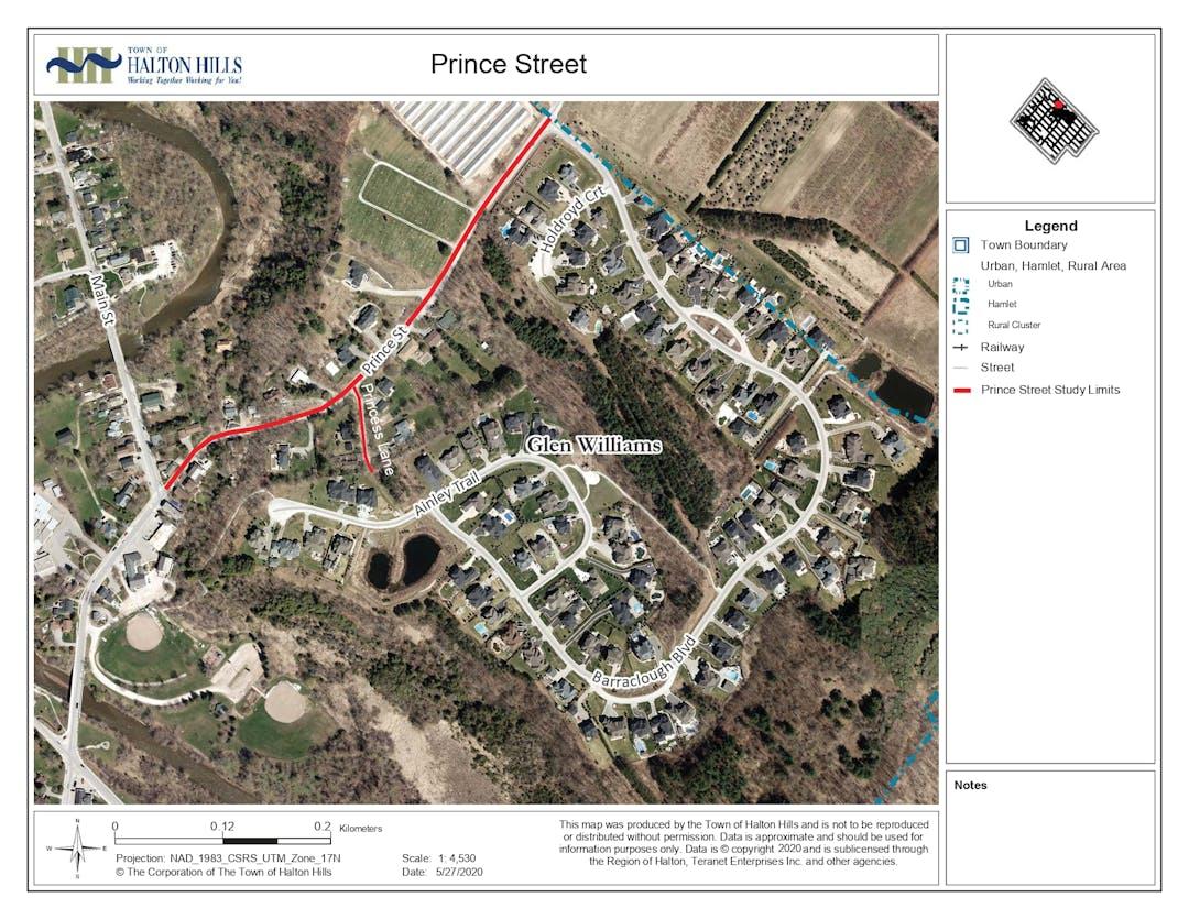Prince street map