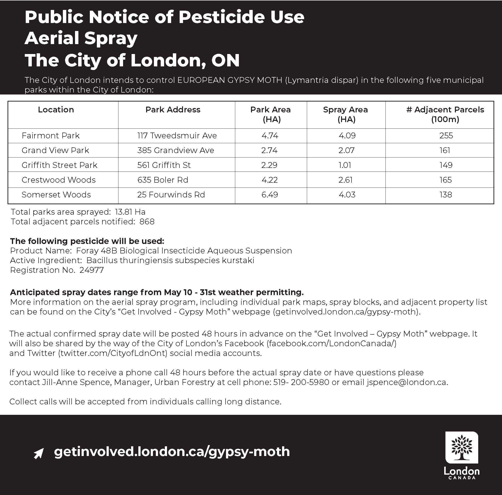 Public Notice of Pesticide Use