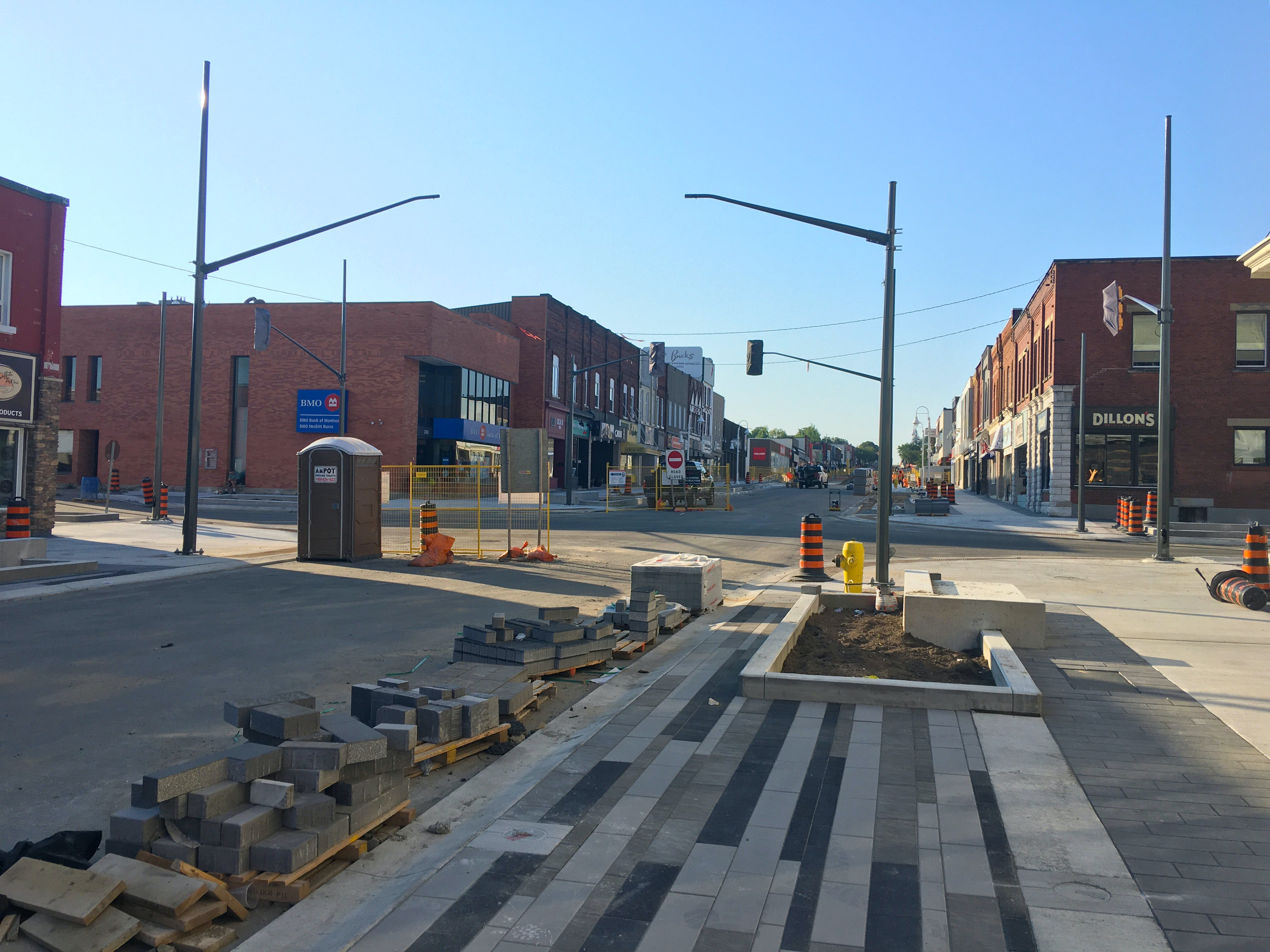 Another view of the new signalized intersection at King Street & Dominion Avenue