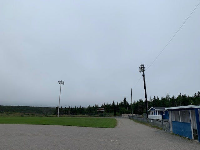 Existing Lighting System at Pat Dawe Memorial Softball field