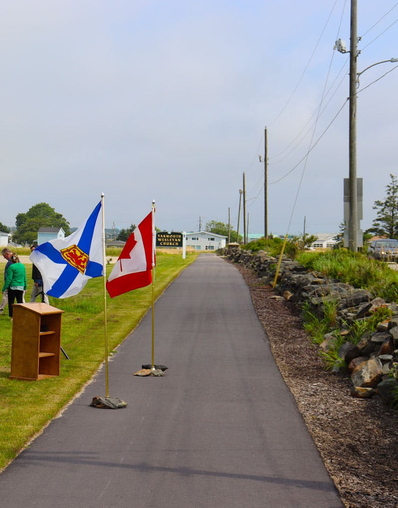 Trail was completed connecting Forest Street to Parade Street.