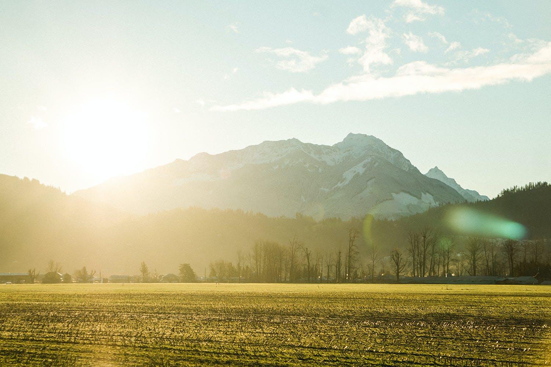 Chilliwack Field at sunrise