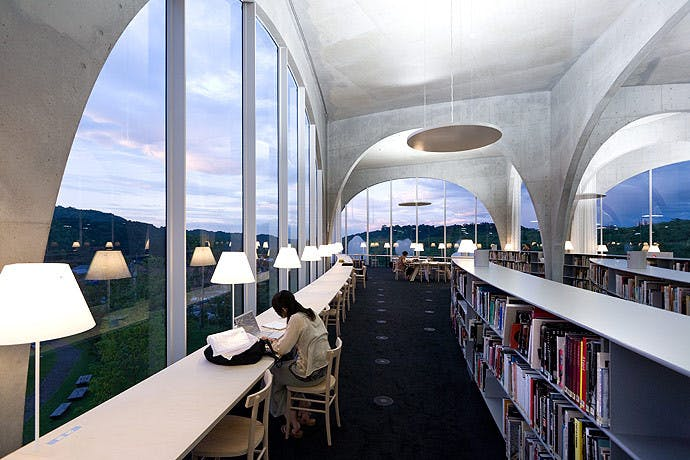 Tama Art University Library by Toyo Ito, Image by Iwan Baan.jpg