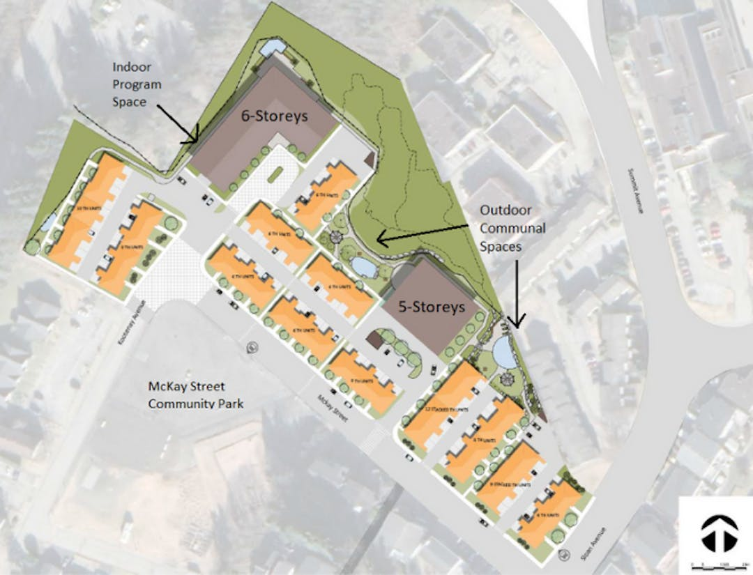 A map of Harbour View Gardens at 1428 Kootenay Avenue.