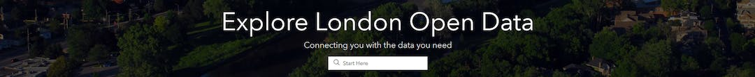 London Open Data Online Portal Homepage