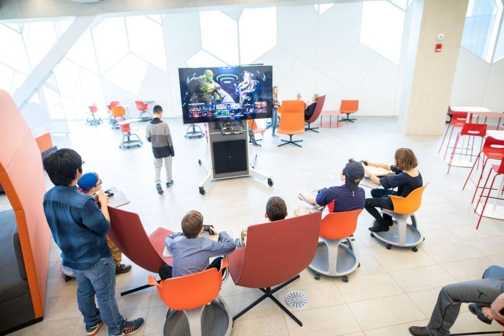 Teen Gaming Centre, Calgary Central Library, Snøhetta, photo by Neil Zeller.jpg