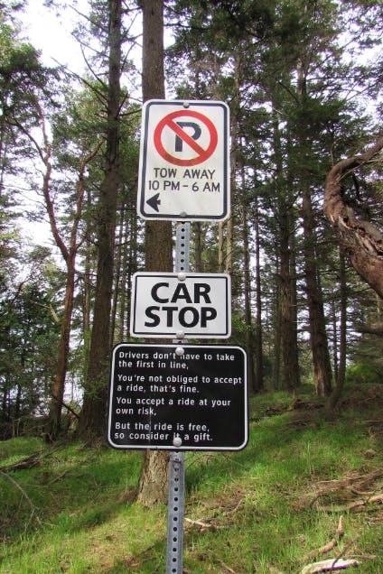 Saturna Car Stop Program