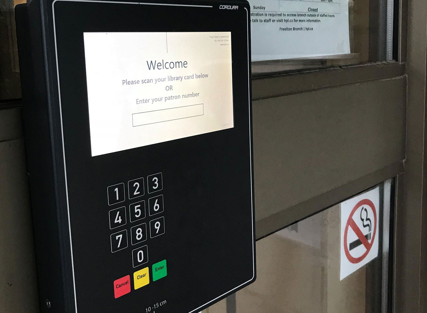 Library Card Reader Scanner/Control Panel Example