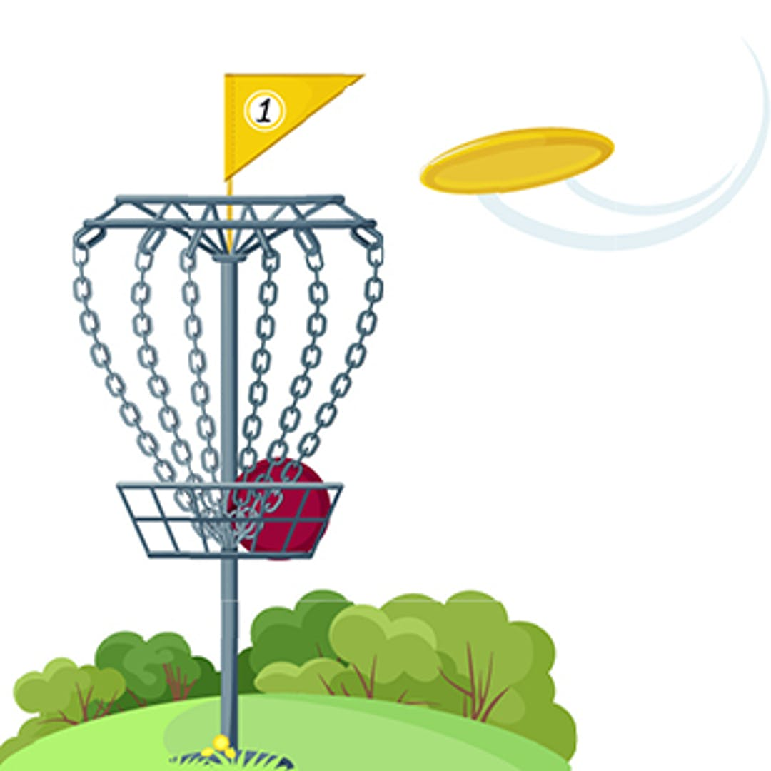 Disc golf basket style target with discs