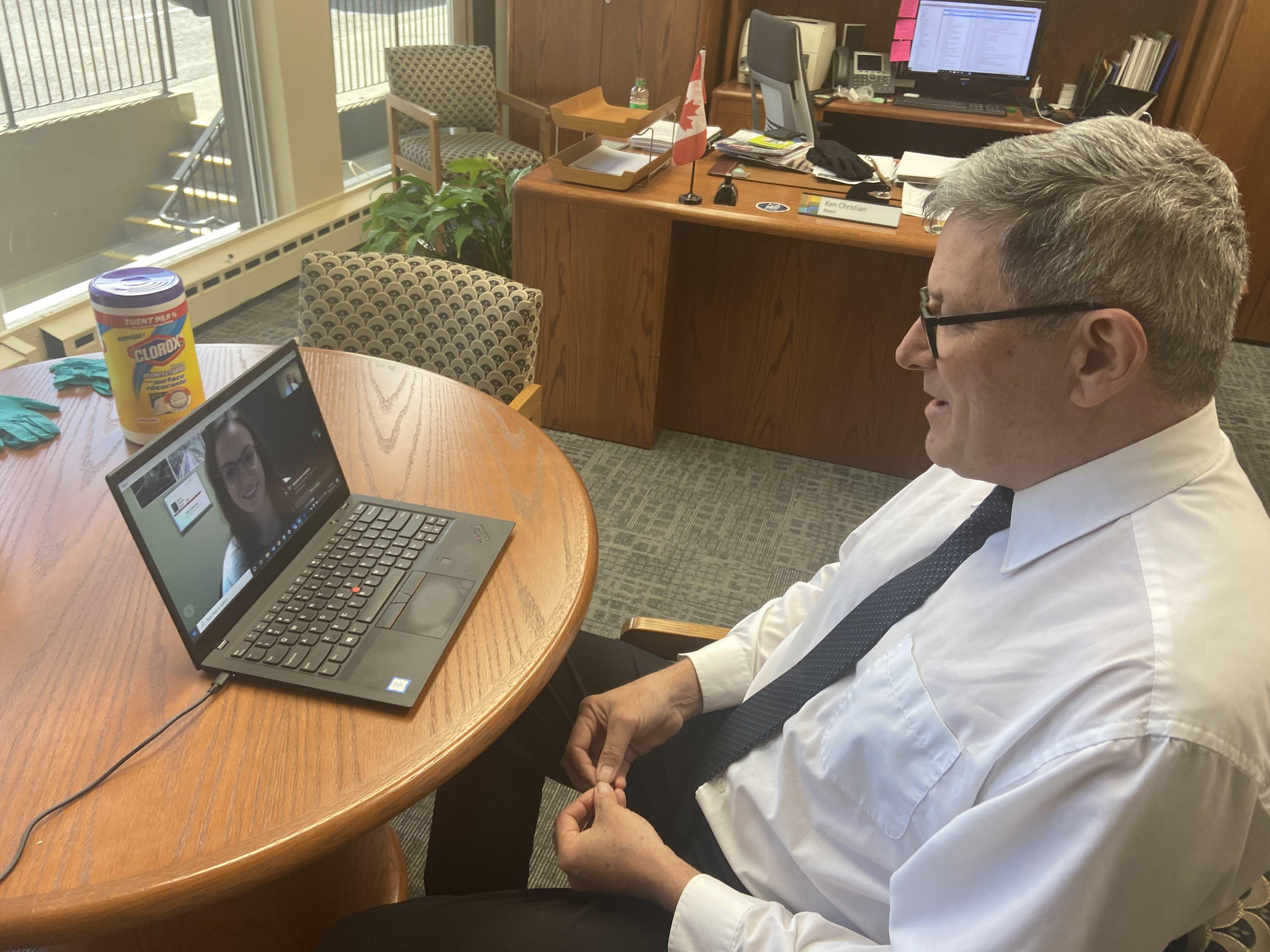 Mayor's Skype Interview