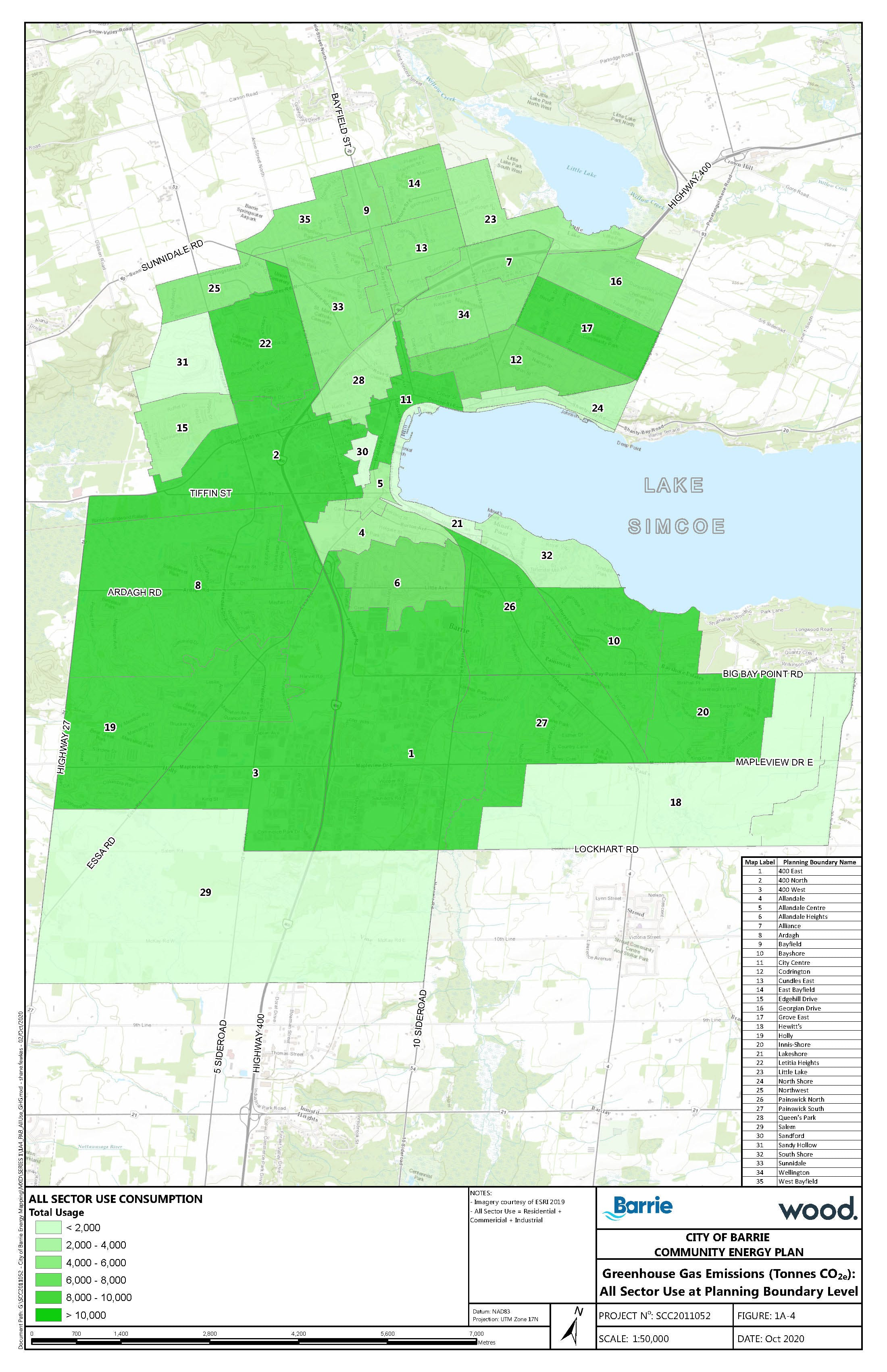 Map of overall energy use in Barrie - 2018.jpg