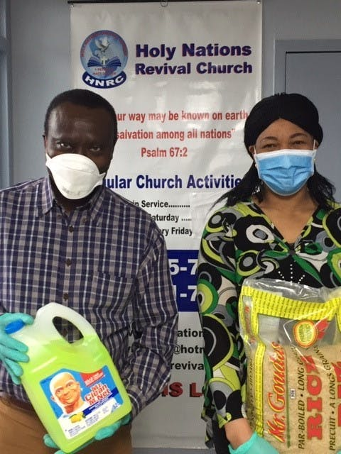 Donation from Pastor Bright