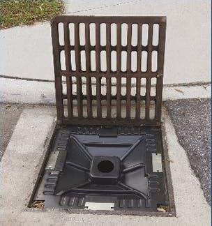 EZ-Flo Restrictor Plate in Catchbasin