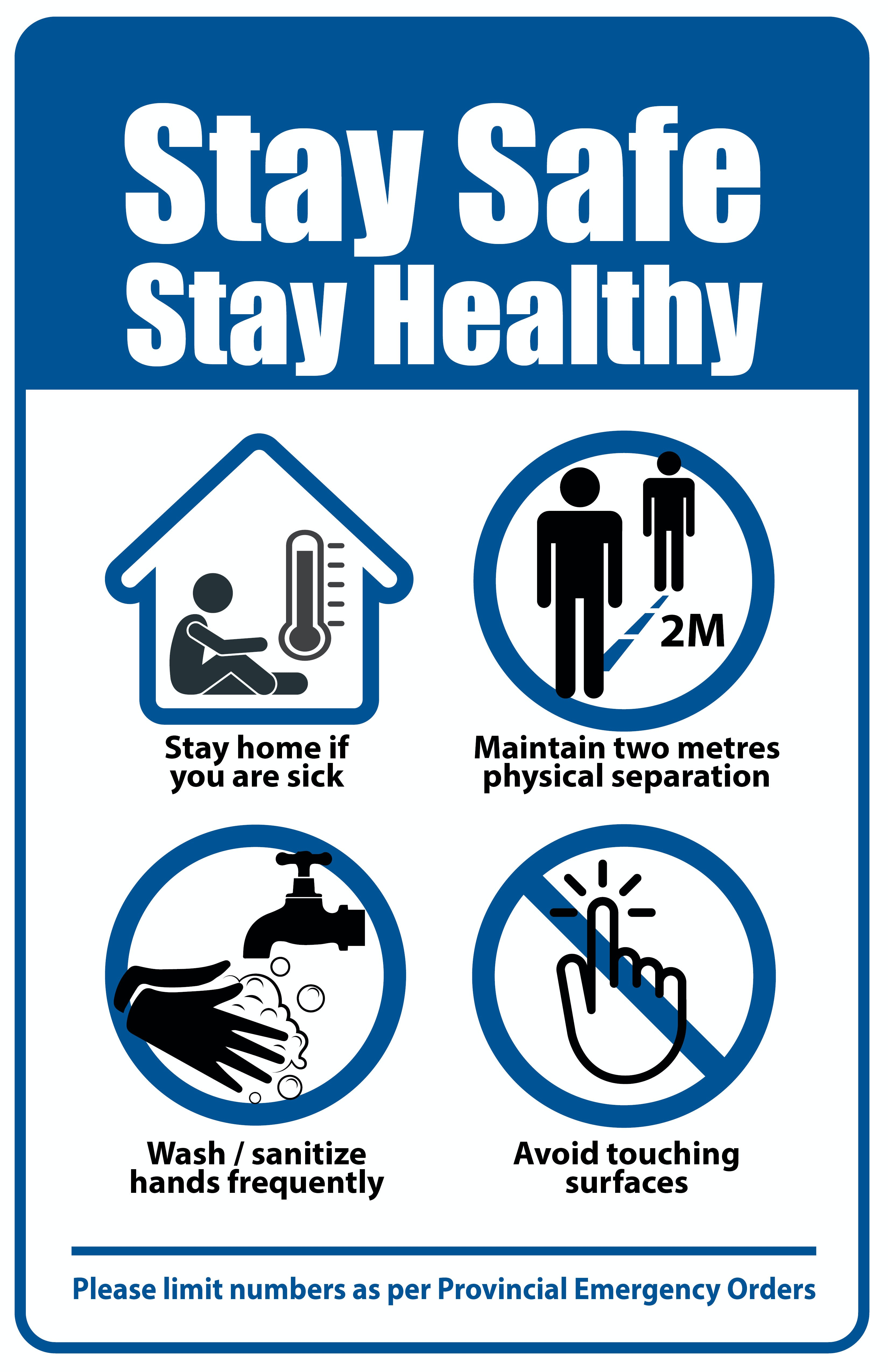 Stay Safe, Stay Healthy Pointers