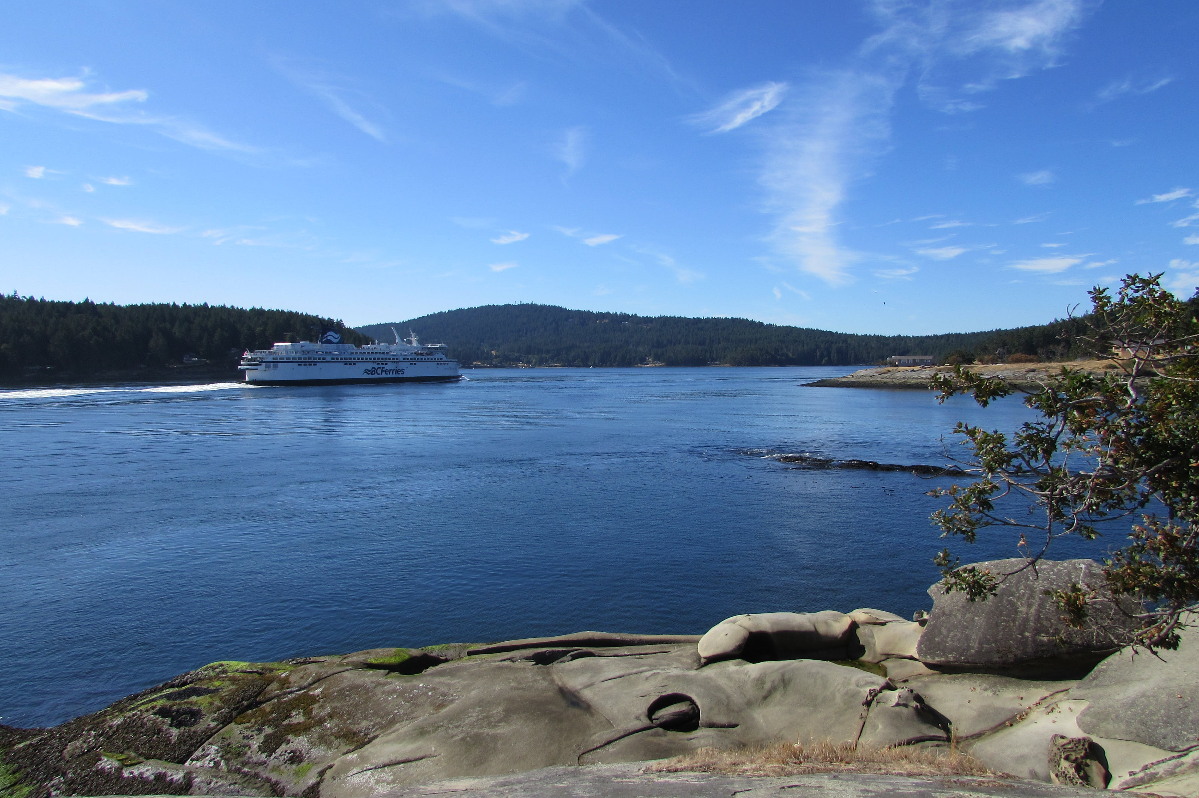 Ferry transiting Active Pass