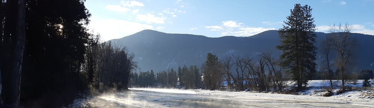 A chilly Kettle River in Grand Forks. Photo taken Feb 11, 2021