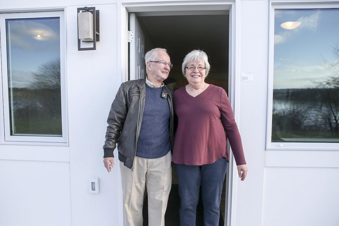 picture of a senior couple enjoying their new affordable home Southwestern Nova Scotia