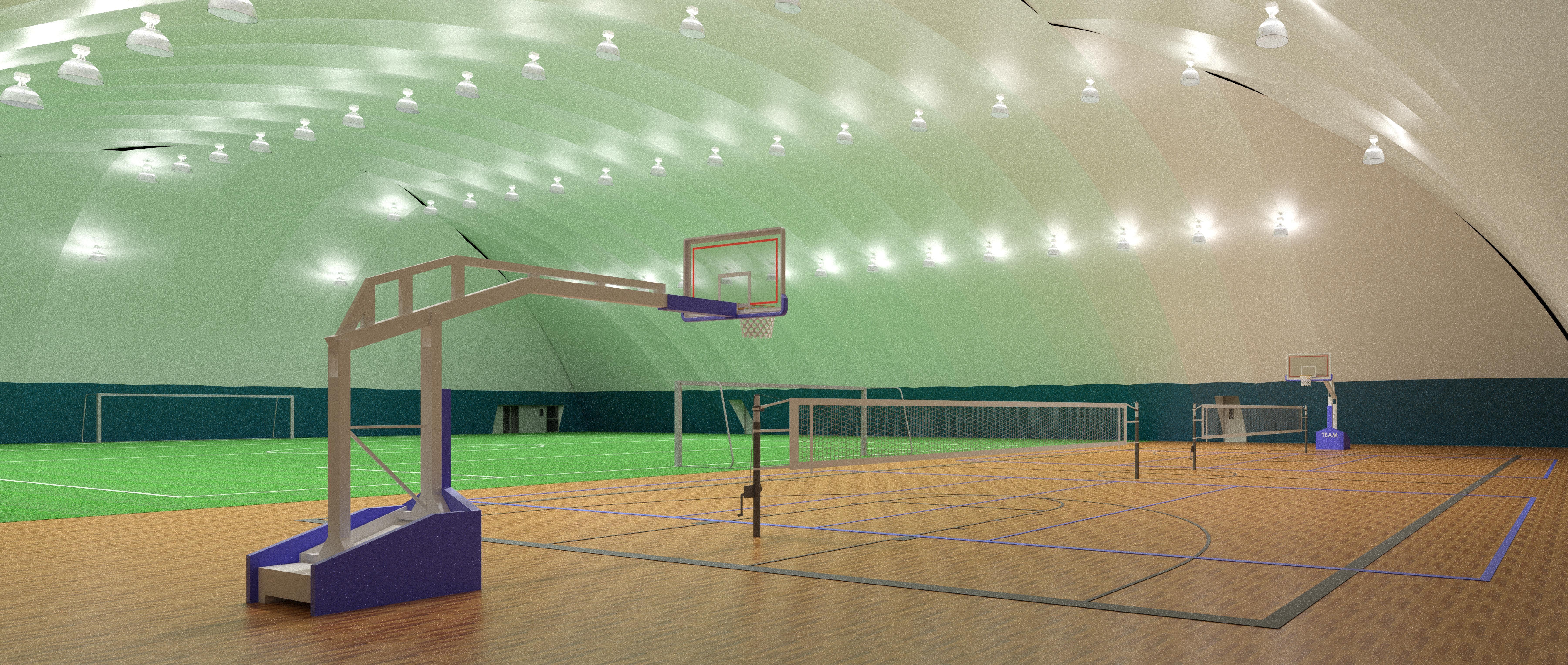 Interior - Basketball Court